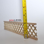 Dollhouse Miniature Wood Porch Lattice Panel unfinished 12